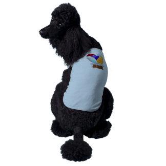Interferencia: gemas de la colección del logro playera sin mangas para perro