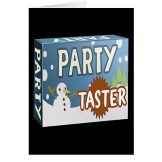 Interferencia: invierno del catador del paquete tarjeta de felicitación
