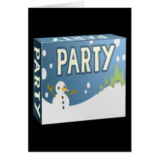 Interferencia: invierno del paquete del fiesta tarjeta de felicitación