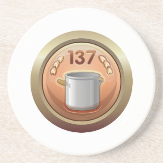 Interferencia: premio de oro de la cucharón del posavaso para bebida
