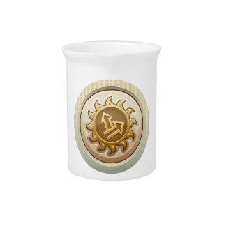 Interferencia: primer emblema del lem del logro jarra de beber