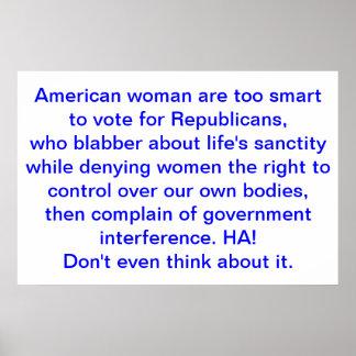 Interferencia republicana con el poster de las der