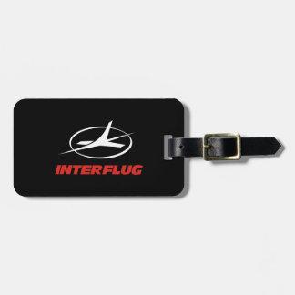 Interflug airlines bag tag