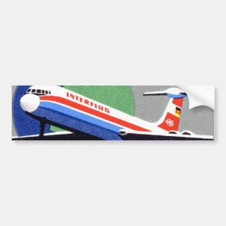 INTERFLUG - Línea aérea nacional de RDA, la Aleman Pegatina De Parachoque