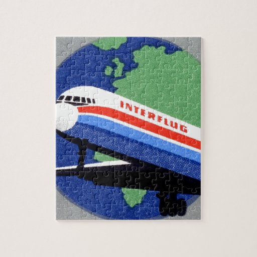 INTERFLUG - Línea aérea nacional de RDA, la Aleman Rompecabeza