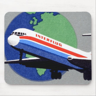 INTERFLUG - Línea aérea nacional de RDA, la Aleman Alfombrillas De Ratones