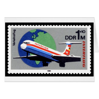 INTERFLUG - Línea aérea nacional de RDA la Aleman Tarjetas