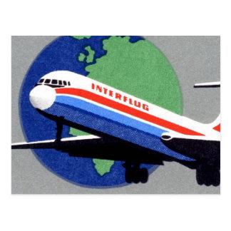 INTERFLUG - Línea aérea nacional de RDA la Aleman Postales