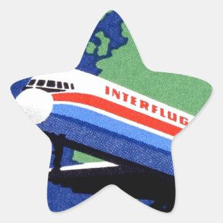INTERFLUG - National Airline of DDR East Germany Star Sticker