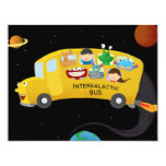 "intergalactic bus 4.25"" x 5.5"" invitation card"