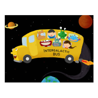intergalactic bus postcard