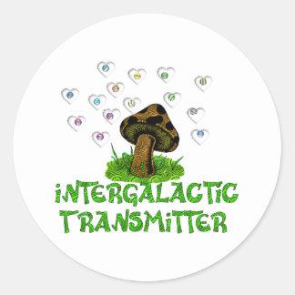 Intergalactic Transmitter Classic Round Sticker