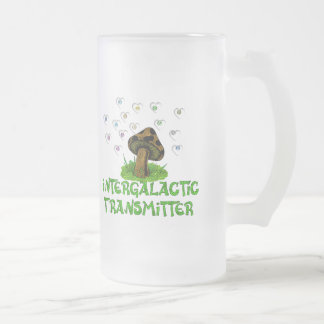 Intergalactic Transmitter Frosted Glass Beer Mug
