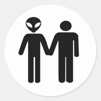 intergalactic unity classic round sticker