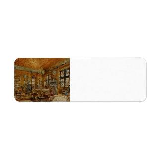 Interieur of castleIn Renaissance by Rudolf Alt Custom Return Address Label
