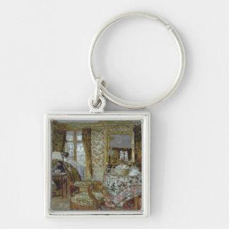 Interior, 1904 Silver-Colored square keychain