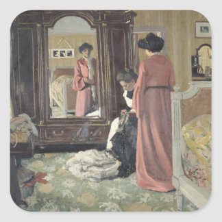 Interior, 1904 square sticker