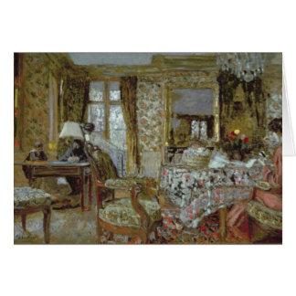 Interior, 1904 tarjeta de felicitación