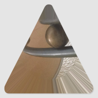 Interior 2 pegatina triangular