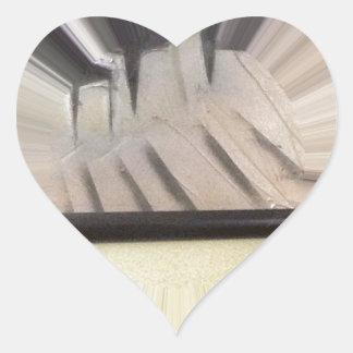 Interior 6 pegatina en forma de corazón
