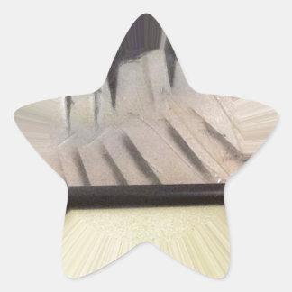 Interior 6 pegatina en forma de estrella