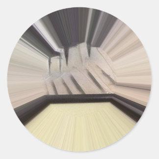 Interior 6 pegatina redonda