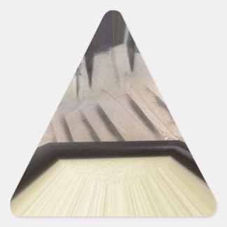 Interior 6 pegatina triangular