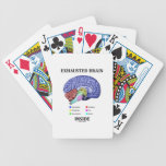 Interior agotado del cerebro (humor anatómico del  barajas de cartas