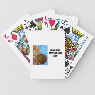 Interior agrícola del Biotechnologist genético Baraja Cartas De Poker