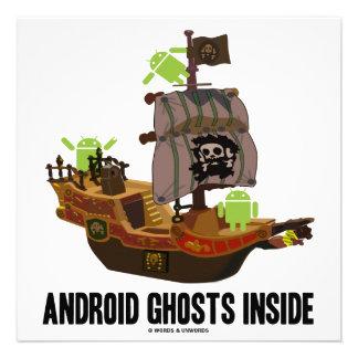 Interior androide de los fantasmas humor del anal anuncio personalizado