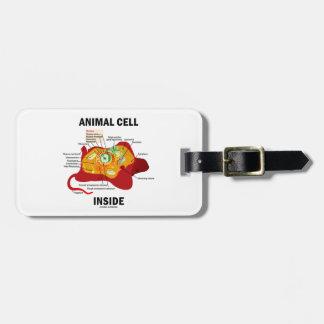Interior animal de la célula (célula eucariótica etiquetas maleta