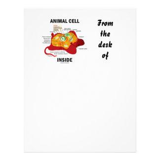 Interior animal de la célula (célula eucariótica membrete