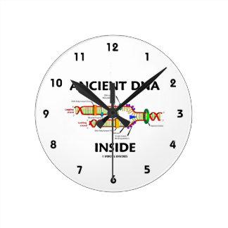 Interior antiguo de la DNA (réplica de la DNA) Reloj Redondo Mediano