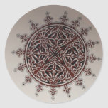 Interior Arabic Style Design Classic Round Sticker