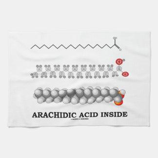 Interior aráquido del ácido (química de la molécul toalla de cocina