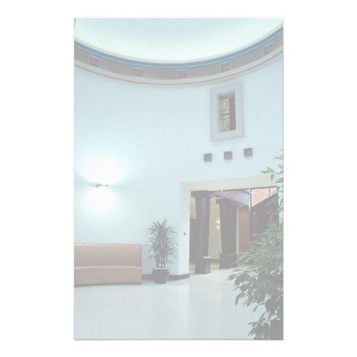 Interior architectural view custom stationery