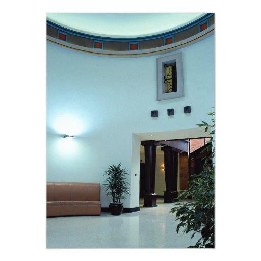 Interior architectural view 5x7 paper invitation card
