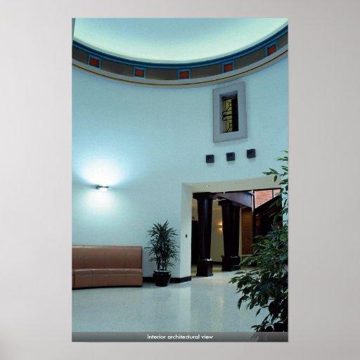 Interior architectural view print