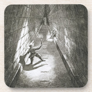 Interior Ascent of a Pyramid, c.1780 (engraving) Drink Coasters