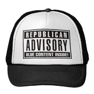 Interior azul consultivo republicano del contenido gorro