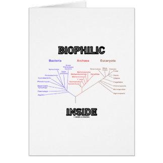 Interior Biophilic (árbol de la vida filogenético) Tarjeta De Felicitación