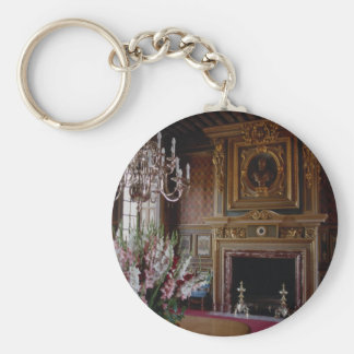 Interior, Chateau Chambord, Loire Valley, France Keychain