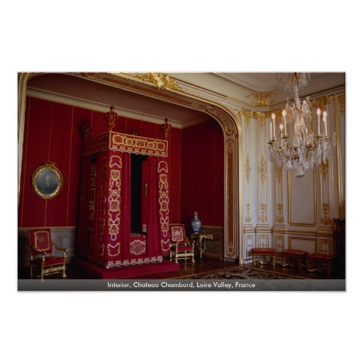 Interior, Chateau Chambord, Loire Valley, France Posters