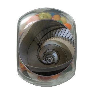Interior Circles Glass Candy Jar