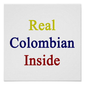 Interior colombiano real poster
