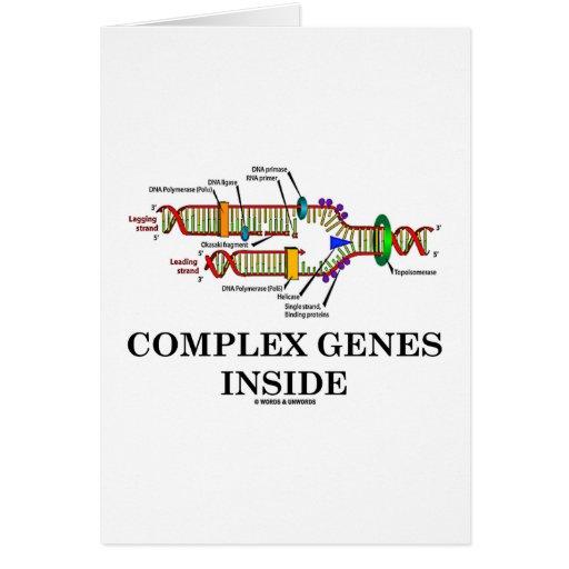 Interior complejo de los genes (réplica de la DNA) Tarjeta De Felicitación