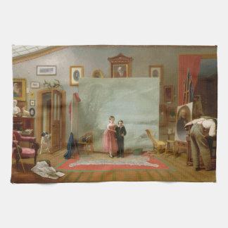 Interior con los retratos de Thomas Le Clear Toalla