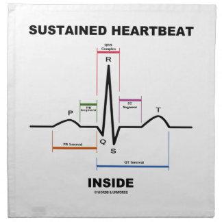 Interior continuo del latido del corazón (ECG/EKG) Servilletas