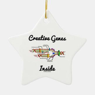 Interior creativo de los genes réplica de la DNA Ornamento De Navidad