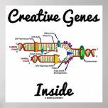Interior creativo de los genes (réplica de la DNA) Posters